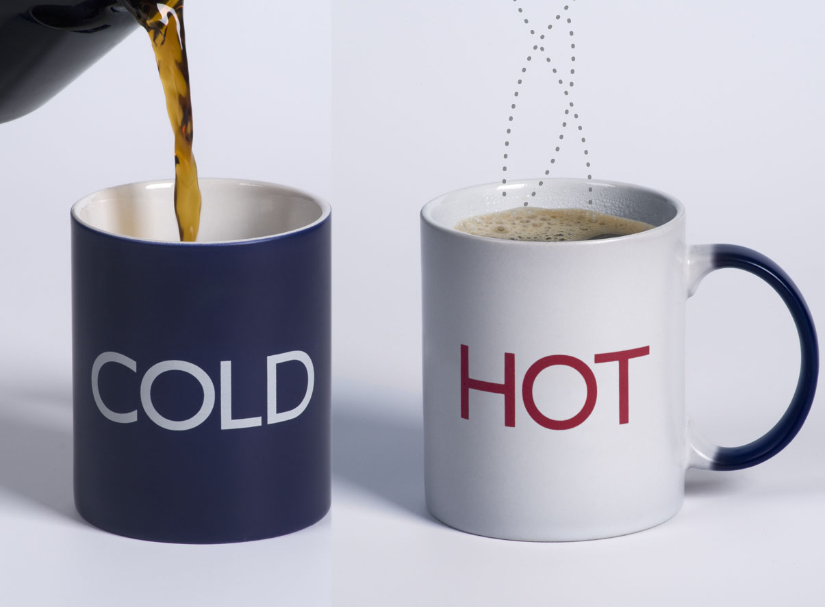 hot and cold mugs